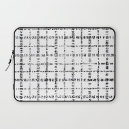 Black and White Plaid Laptop Sleeve