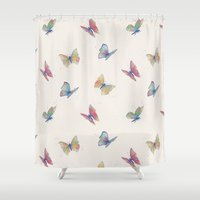 butterflies Shower Curtains featuring Butterflies by Tracie Andrews