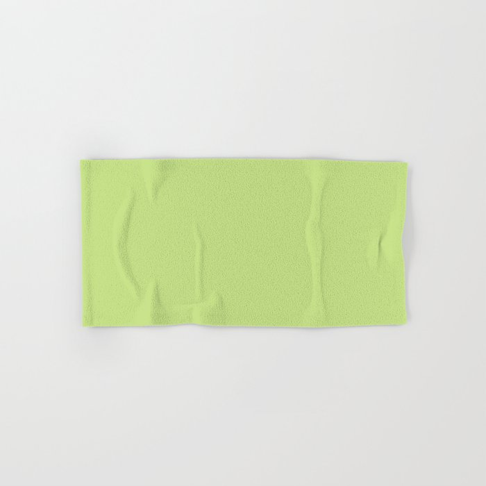 From The Crayon Box – Yellow Green - Bright Green Solid Color Hand & Bath Towel