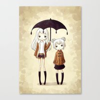 sisters Canvas Prints featuring Sisters by Freeminds