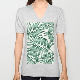 Palm Leaves Unisex V-Neck