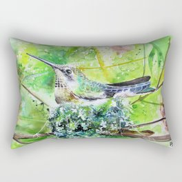 Hummingbird Nest Rectangular Pillow