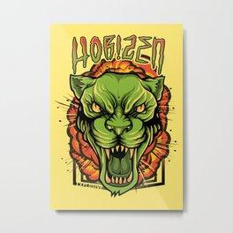 Explosive Panther Metal Print