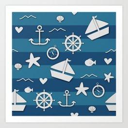 Nautical Nonsensical Art Print