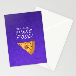 Friends 20th - Joey Doesn't Share Food Stationery Cards