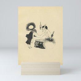 1907 AUBREY BEARDSLEY Black and White Drawing Salome Oscar Wilde - Cul de Lampe Mini Art Print