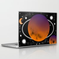 planets Laptop & iPad Skins featuring planets by lescapricesdefilles