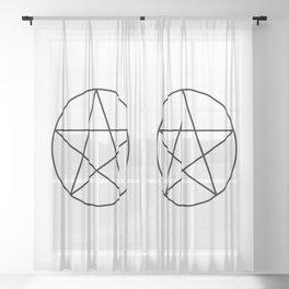 Pentacle Sheer Curtain