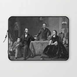 President Lincoln And His Family Laptop Sleeve
