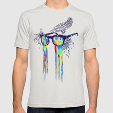 Technicolor Vision Mens Fitted Tee Silver X-LARGE