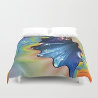 cocktail Duvet Covers featuring Cocktail bubbles by Just Kidding
