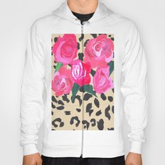 Roses and Leopard Print Hoody