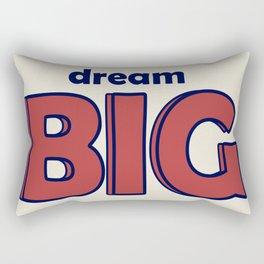Dream BIG - Positive Thinking - Deep Blue & Red Rectangular Pillow