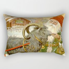 """The Sled Goat"" by Jenny Nystrom Rectangular Pillow"