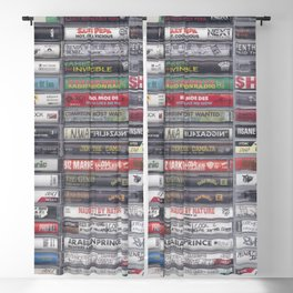 Old 80's & 90's Hip Hop Tapes ver. 7 Blackout Curtain