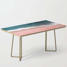 Turquoise Sea Pastel Beach III Coffee Table
