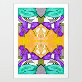 八 (Bā) Art Print
