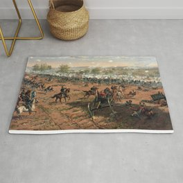 Civil War Battle of Gettysburg by Thure de Thulstrup (1887) Rug