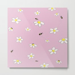 Buzzy Bees Metal Print