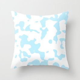 Large Spots - White and Light Blue Throw Pillow