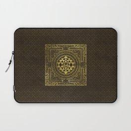 Gold Sri Yantra  / Sri Chakra Laptop Sleeve