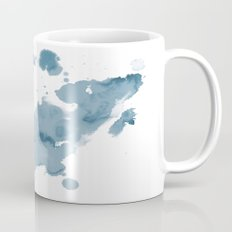 Paint 11 abstract indigo blue modern minimal art print affordable stretched canvas home decor art  Mug