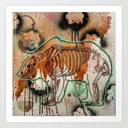 Bear Skeleton Art Print