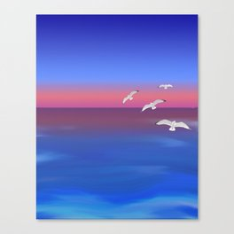 Where the ocean meets the sky Canvas Print