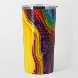 Melting Pot of Colors Abstract Travel Mug