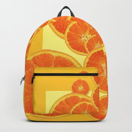 CONTEMPORARY ORANGE SLICES  ABSTRACT MODERN ART Backpack