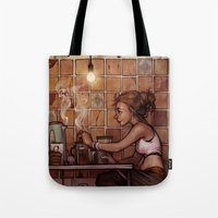 cafe Tote Bags featuring Cafe Presse by loish