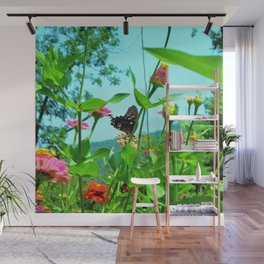 Butterfly with a View Wall Mural