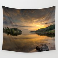 swedish Wall Tapestries featuring Serenity by dawn by HappyMelvin