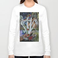 mythology Long Sleeve T-shirts featuring Pyramus & Thisbe Collage Mythology Romeo and Juliet by FountainheadLtd