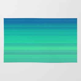 Blue Green Gradient Stripes Rug
