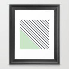 Diagonal Block - Mint Framed Art Print