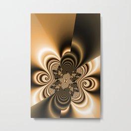 pattern coffee and milk Metal Print