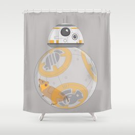 Hamster BBall Shower Curtain