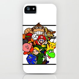 Super Smash 64 Roster iPhone Case