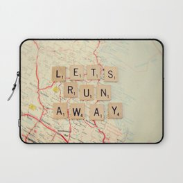 let's run away Laptop Sleeve
