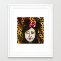 minnie Framed Art Prints featuring minnie by NAME THEGREY