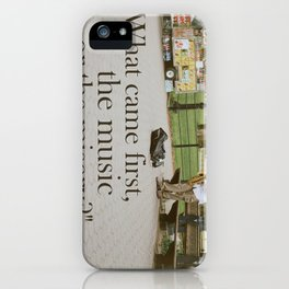 What Came First, The Music Or The Misery? iPhone Case