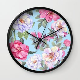 Lovely Vintage Floral Pattern Wall Clock