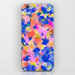Floral splash iPhone Skin