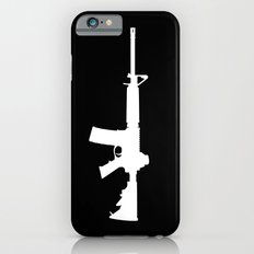 AR-15 (on black) iPhone 6 Slim Case