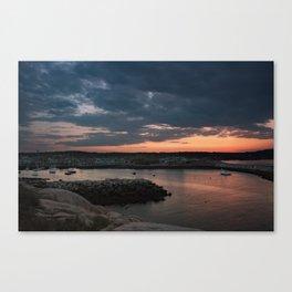Rockport Harbor Sunset Canvas Print