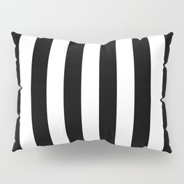 Abstract Black and White Vertical Stripe Lines 8 Pillow Sham