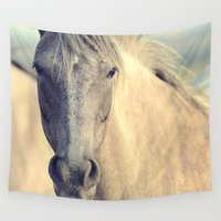 mustang Wall Tapestries featuring WILD HORSE by Christina Lynn Williams