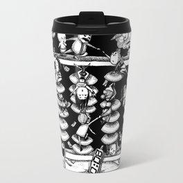 Monochrome surrealistic Illustration:Calculation/Abacus Travel Mug