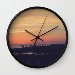 SoCal Sunset Wall Clock